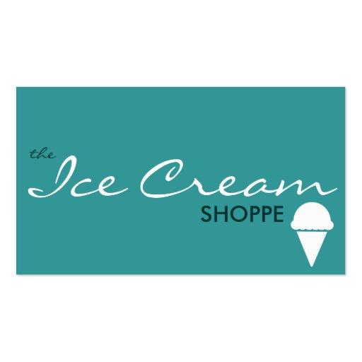 le magasin de CRÈME GLACÉE (couleur personnalisabl Cartes De Visite Professionnelles
