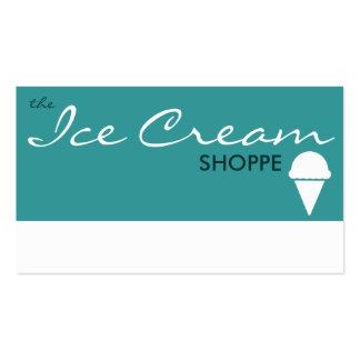 le magasin de CRÈME GLACÉE (couleur personnalisabl Carte De Visite Standard