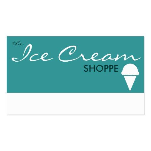 le magasin de CRÈME GLACÉE (couleur personnalisabl Carte De Visite