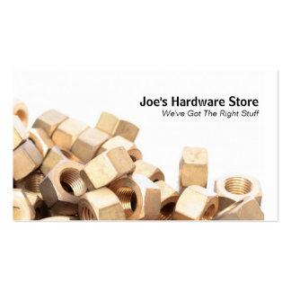 Le magasin de matériel n Nuts boulonne le carte de Cartes De Visite Professionnelles