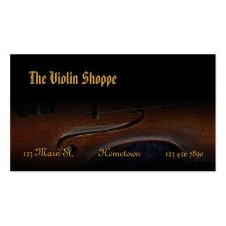 Le magasin de violon carte de visite standard