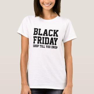 Le magasin noir du T-shirt | d'achats de vendredi