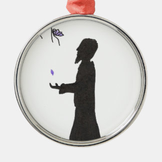 Le magicien lit les présages ornement rond argenté