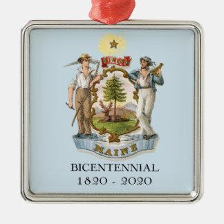Le Maine 200 bicentenaire Ornement Carré Argenté