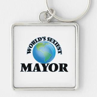 Le maire le plus sexy du monde porte-clé carré argenté