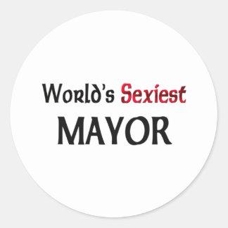 Le maire le plus sexy du monde sticker rond