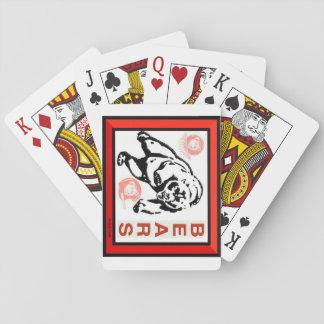 Le maître d'hôtel soutient des cartes de jeu cartes à jouer