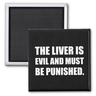 Le mal de foie doit être puni magnet carré