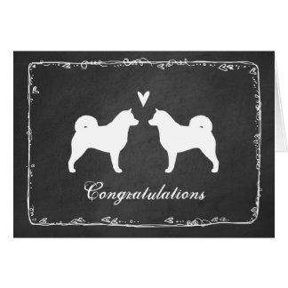 Le Malamute d'Alaska silhouette épouser Congrats Cartes