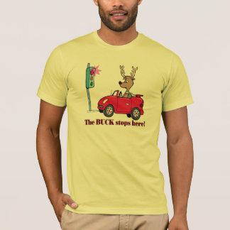 Le mâle drôle arrête ici des cadeaux de T-shirts