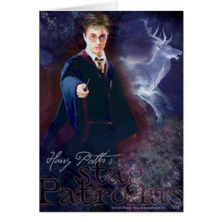 Le mâle Patronus de Harry Potter Carte De Vœux