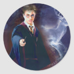 Le mâle Patronus de Harry Potter Sticker Rond