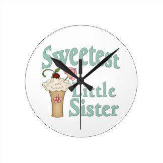 Le malt le plus doux de petite soeur horloge ronde