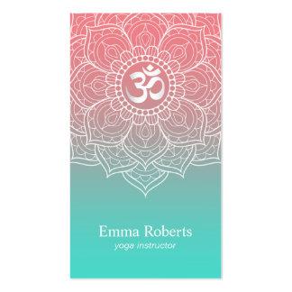 Le mandala élégant Namaste OM de Lotus de Carte De Visite Standard