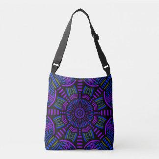 Le mandala pourpre décore votre sac