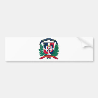 Le manteau de la République Dominicaine des bras F Autocollant De Voiture