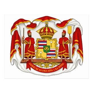 Le manteau des bras royal du royaume d'Hawaï Cartes Postales