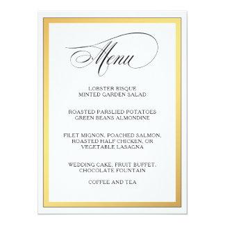 Le manuscrit élégant s'épanouit le menu de mariage carton d'invitation  13,97 cm x 19,05 cm