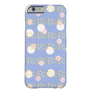 le marbre rose violet mignon entoure des confettis coque barely there iPhone 6