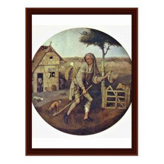 Le marchand ambulant., par Hieronymus Bosch Cartes Postales
