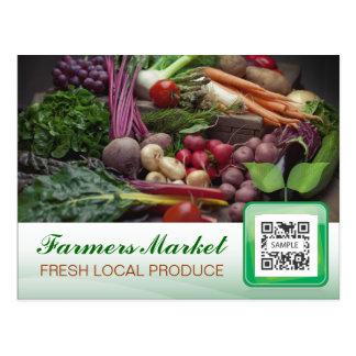 Le marché de l'agriculteur de modèle de carte
