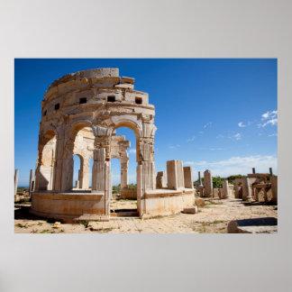 Le marché, Leptis Magna, secteur d'Al Khums Posters