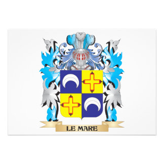 Le-Mare Coat of Arms - Family Crest Personalized Announcement
