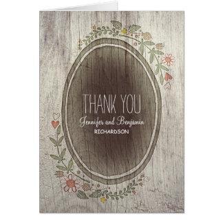 le mariage campagnard rustique floral vous cartes de vœux