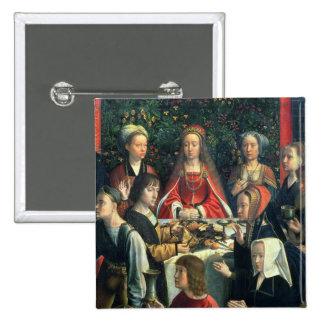 Le mariage chez Cana, détail de la jeune mariée et Badges