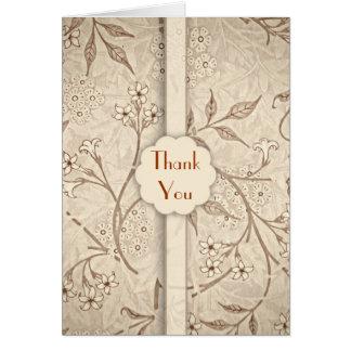 le mariage classique vous remercient des cartes