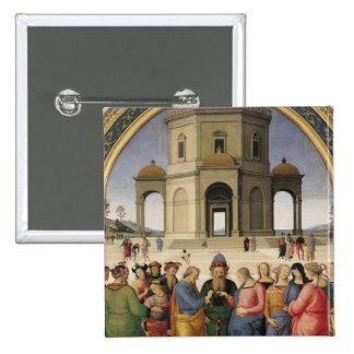 Le mariage de la Vierge, 1500-04 Badge Carré 5 Cm