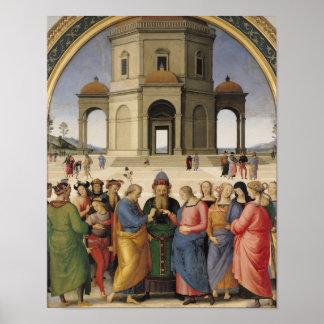 Le mariage de la Vierge, 1500-04 Affiche
