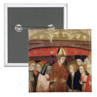 Le mariage de la Vierge Badge Carré 5 Cm