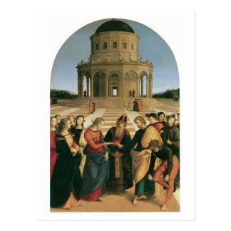 Le mariage de la Vierge - cartes postales de Rapha