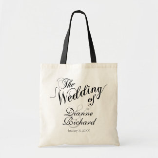 le mariage de… noir (de noms faits sur commande) sacs fourre-tout