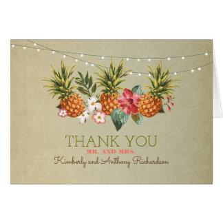 le mariage de plage tropical d'ananas vous cartes de vœux