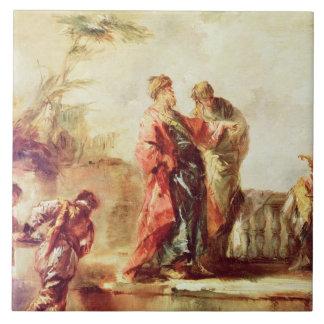 Le mariage de Tobias, détail d'une série de PA Grand Carreau Carré