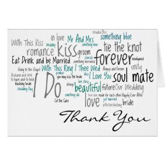 Le mariage exprime des cartes de Merci