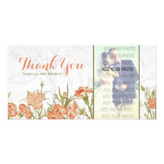 Le mariage floral d'oeillet vous remercient photocarte