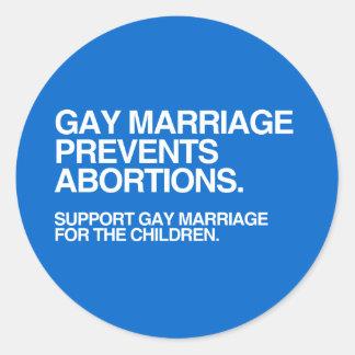 LE MARIAGE HOMOSEXUEL EMPÊCHE L'AVORTEMENT - .PNG STICKER ROND