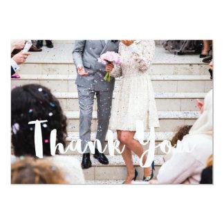 Le mariage moderne remercient votre carte