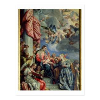 Le mariage mystique de St Catherine Carte Postale