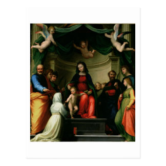 Le mariage mystique de St Catherine de Sienne avec Cartes Postales