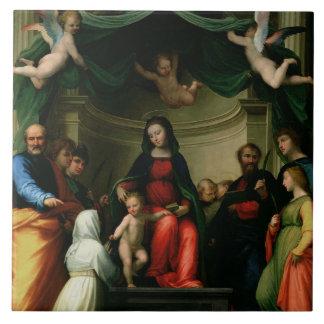 Le mariage mystique de St Catherine de Sienne avec Grand Carreau Carré