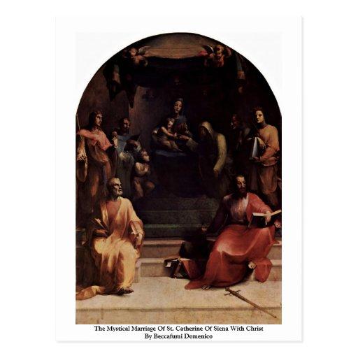 Le mariage mystique de St Catherine de Sienne Carte Postale