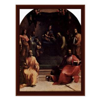 Le mariage mystique de St Catherine de Sienne Cartes Postales