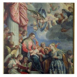 Le mariage mystique de St Catherine Grand Carreau Carré