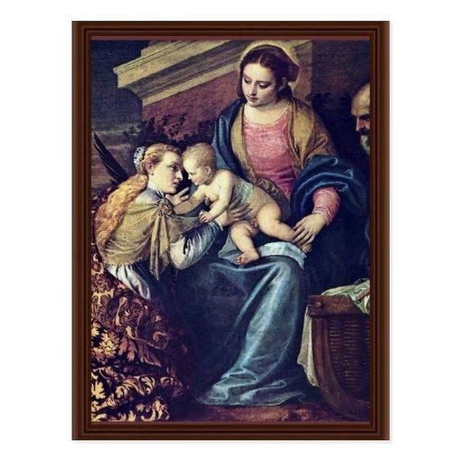 Le mariage mystique de St Catherine par Veronese Cartes Postales