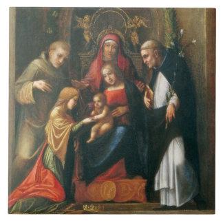 Le mariage mystique du saint Catherine Grand Carreau Carré
