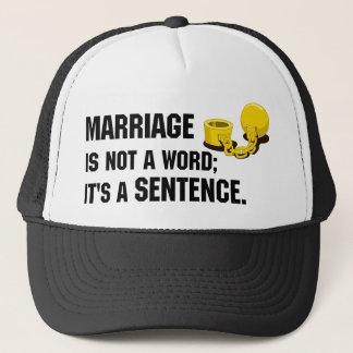 Le mariage n'est pas un casquette de mot